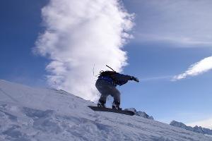 В Чечне начали кататься на сноубордах
