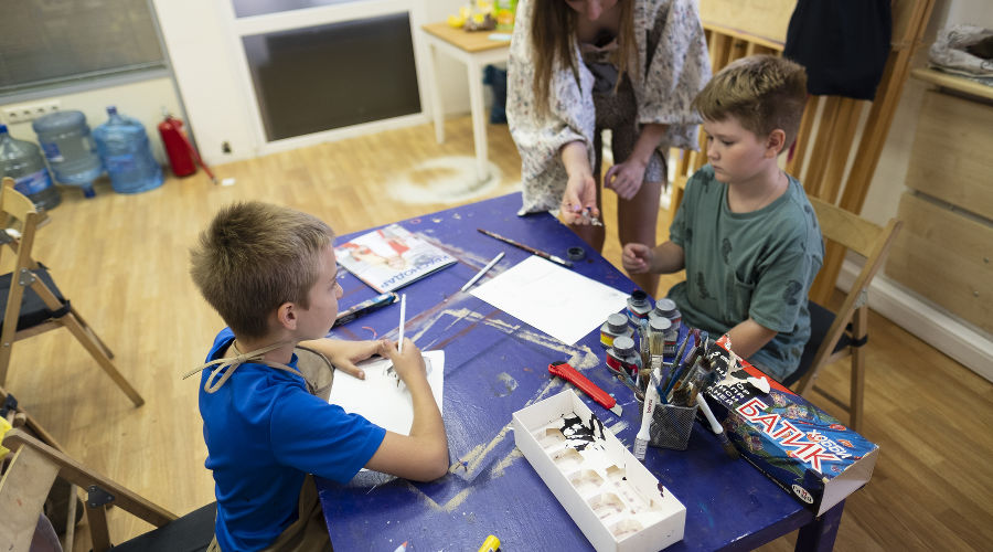 «Детская лаборатория творчества» в «Типографии» ©Фотография предоставлена пресс-службой КЦСИ «Типография»