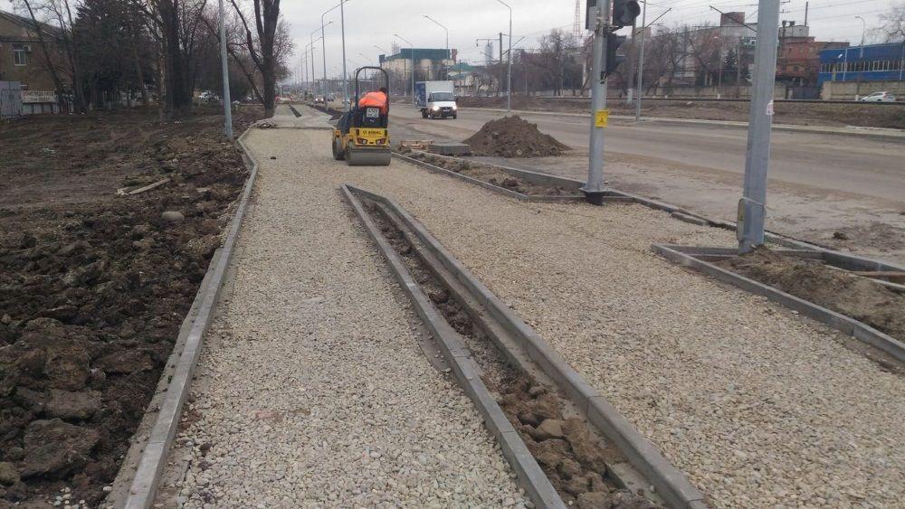 Ремонт наулице Новороссийской вКраснодаре закончат сприходом хорошей погоды