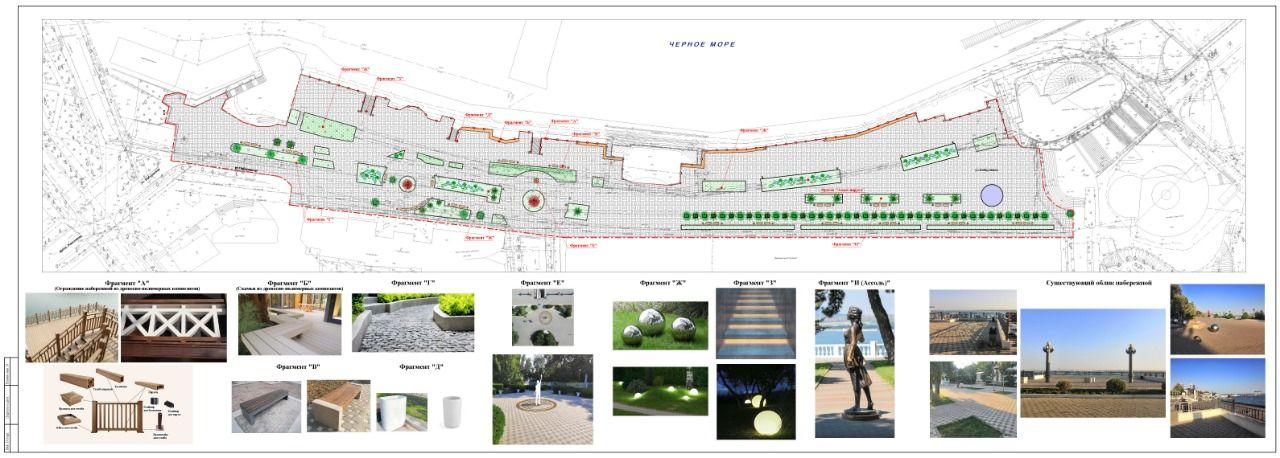 Проект реконструкции центральной набережной Анапы ©Фото с сайта anapa-official.ru