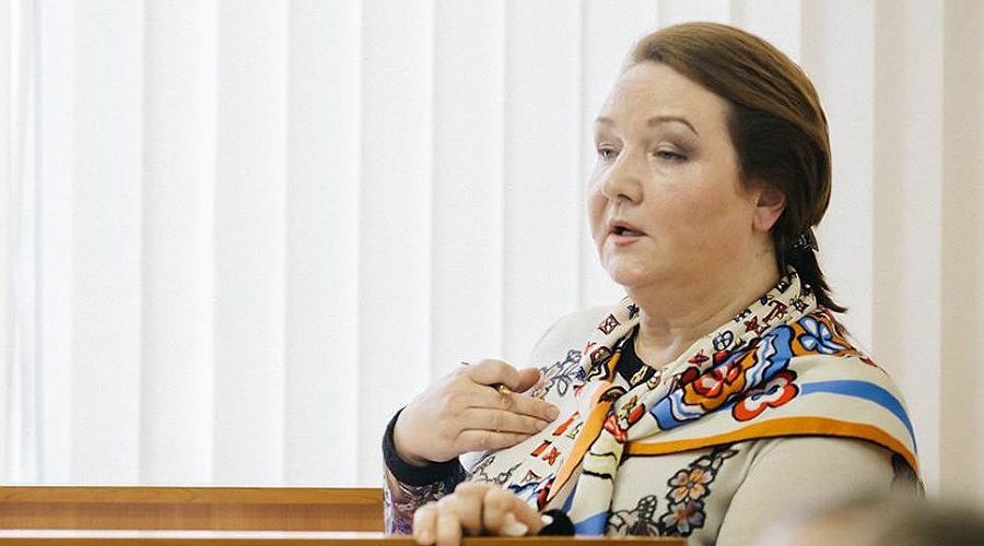 """Галина Золина на защите диссертации ©""""Коммерсантъ"""""""
