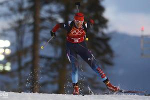 Биатлонистка Яна Романова во время эстафетной гонки ©РИА Новости