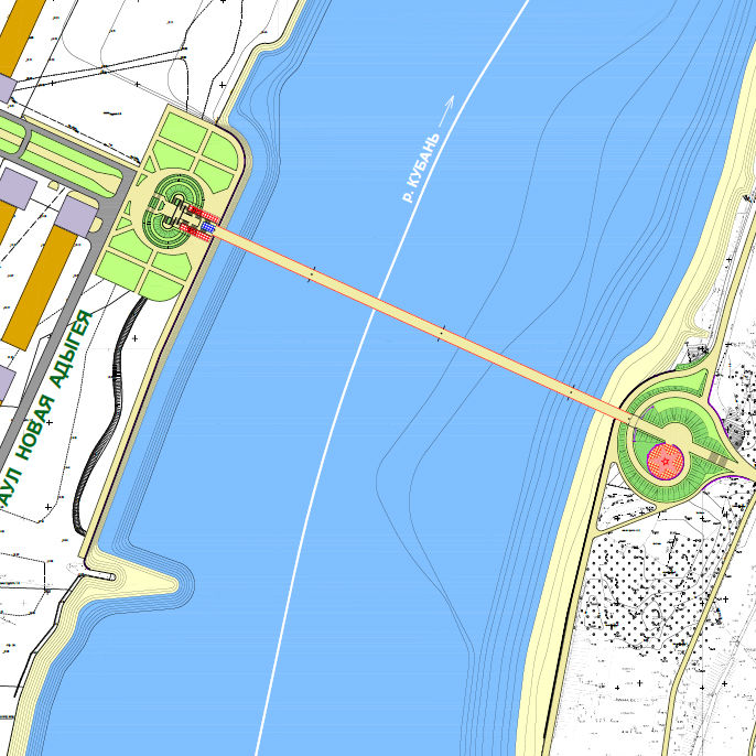 Представлен проект пешеходного моста изКраснодара в новейшую Адыгею