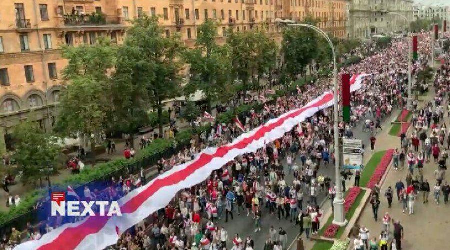 ©Скриншот видео из телеграм-канала Nexta Live, t.me/nexta_live
