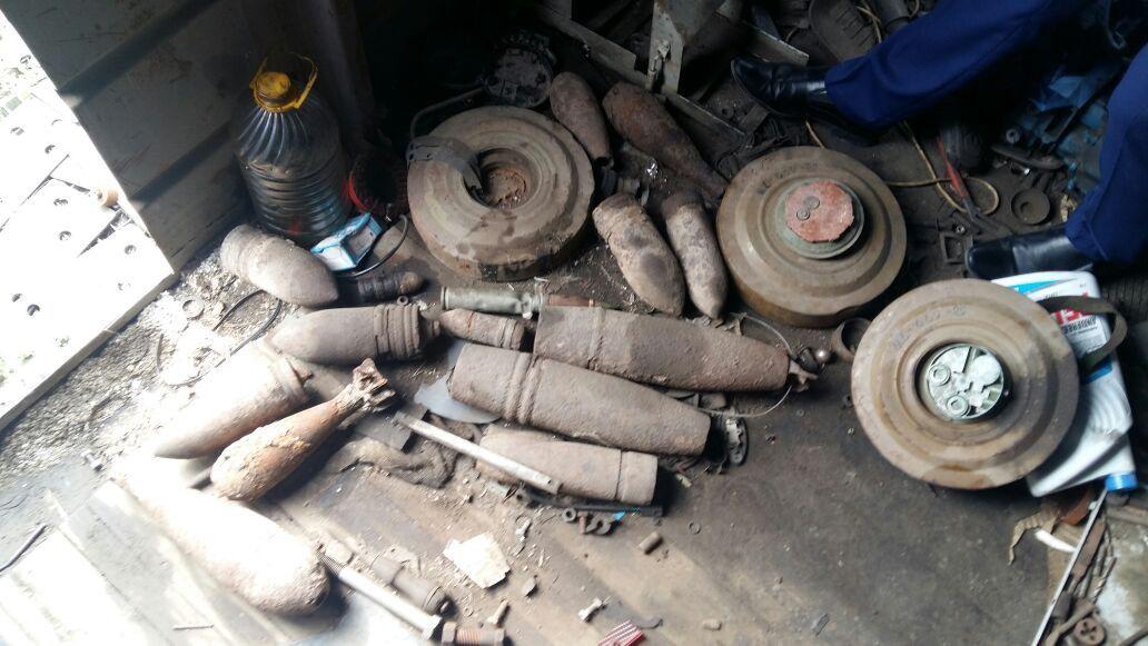 ВТихорецке водном изпунктов приема отыскали боеприпасы— Взрывной металлолом