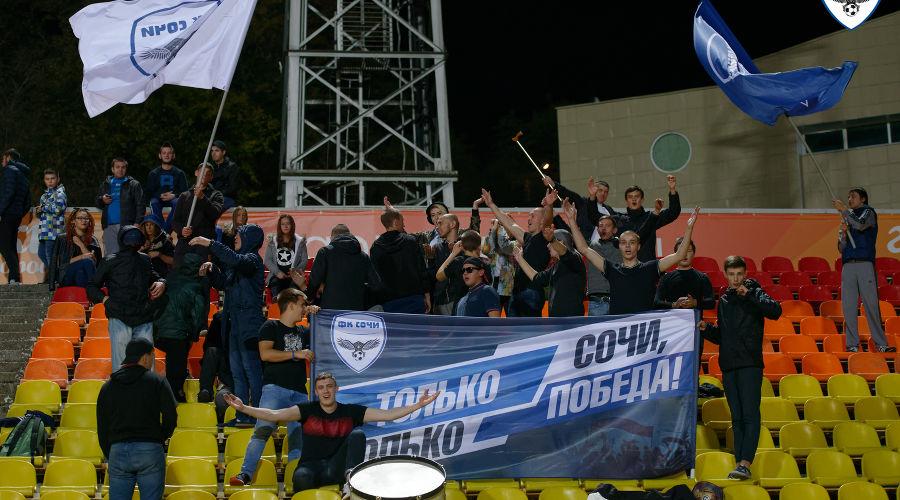 Матч 16-го тура первенства России ПФЛ «Сочи» — «Кубань-2» ©Фото с официального сайта ФК «Сочи»