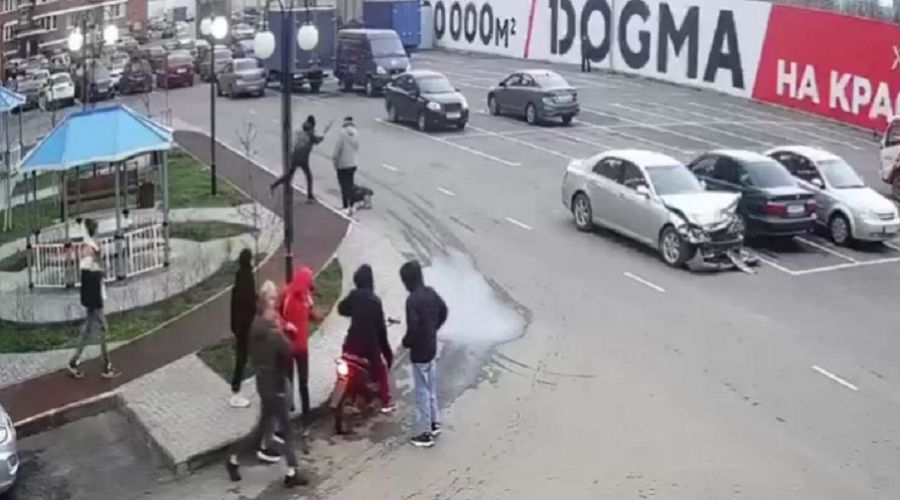 ©Скриншот видео из телеграм-канала «Телетайп Краснодара», t.me/tipichkras