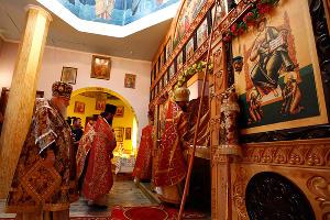Митрополит Исидор освятил храм в исправительной колонии №9 в Хадыженске ©Влад Александров, ЮГА.ру