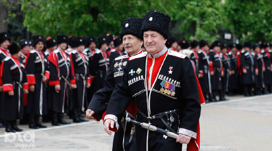 Парад казаков в Краснодаре. Николай Долуда ©Фото Эдуарда Корниенко, Юга.ру