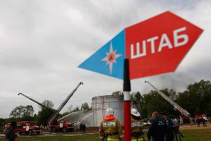 МЧС Кубани потушили условный пожар на нефтебазе ©Влад Александров, ЮГА.ру