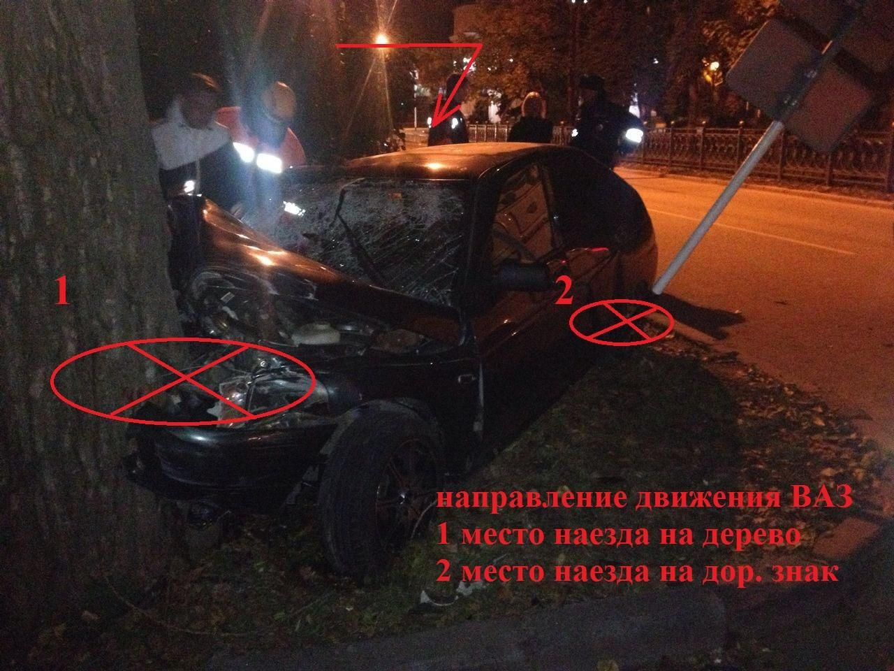 ВСтаврополе пьяная студентка без прав врезалась вдерево, пассажир вкоме