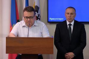 Сергей Тебеньков (справа) ©Фото пресс-службы администрации Краснодара