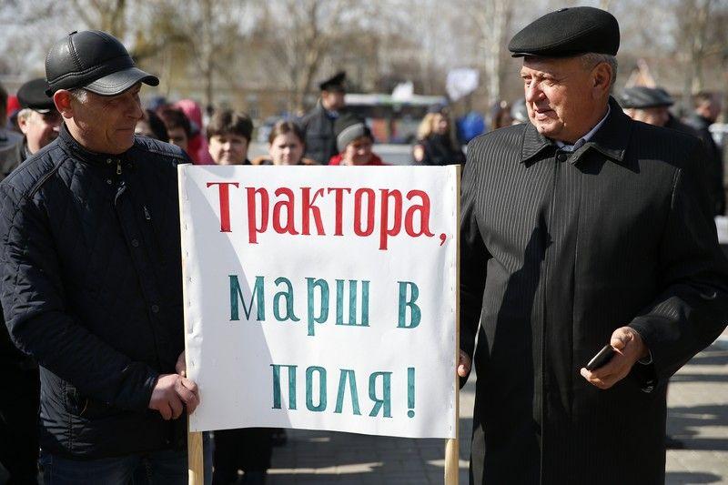 Митинг за продление санкций в Тихорецке ©Фото пресс-службы администрации Краснодарского края