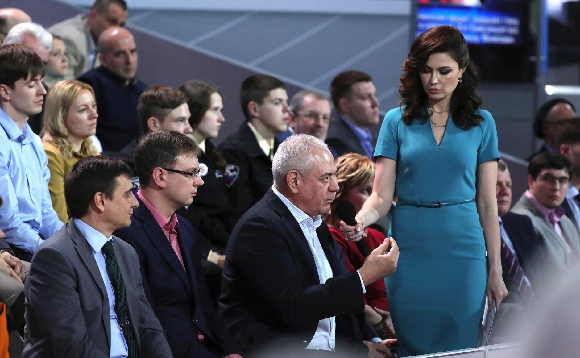 Сергей Доренко на пресс-конференции с Владимиром Путиным ©Фото пресс-службы президента Российской Федерации