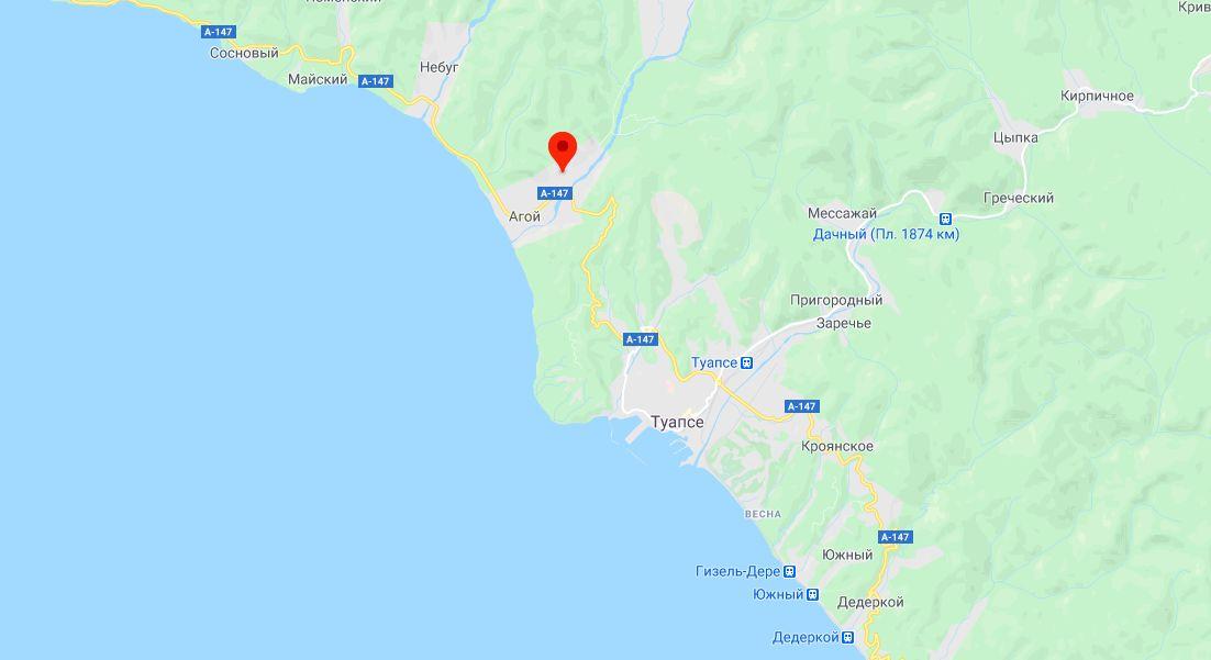 Координаты землетрясения по данным сайта emsc-csem.org ©Скриншот страницы сайта google.com/maps