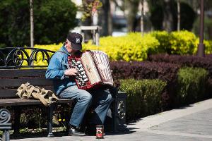 Уличный музыкант ©Фото Елены Синеок, Юга.ру