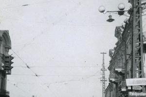Перекресток улиц Мира и Красной, осень 1942 года/зима 1943 года ©Фото с сайта myekaterinodar.ru