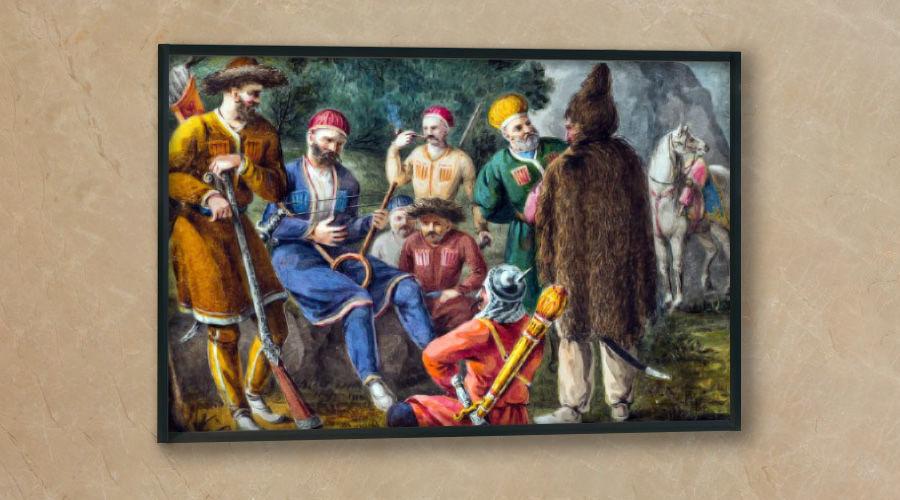 ©Рисунок из альбома «Путешествия по России П.П. Свиньина». 1820-е гг.