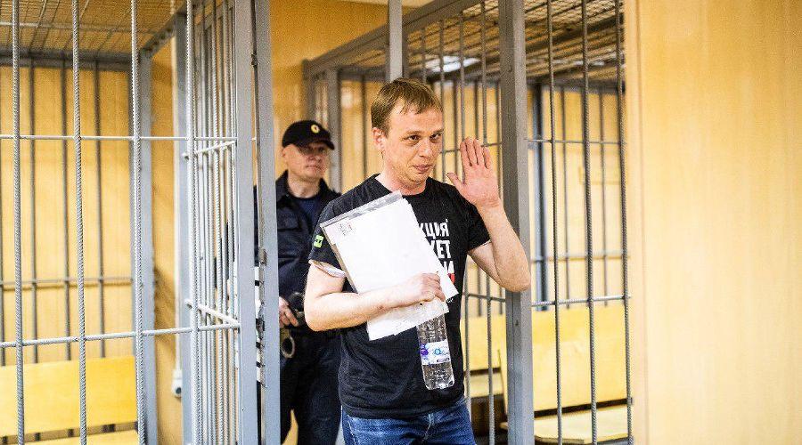 Иван Голунов в суде ©Фото Евгения Фельдмана, «Медуза»