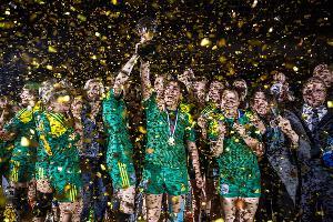 Гандболистки «Кубани» завоевали бронзу чемпионата России ©Фото Евгения Резника, Юга.ру