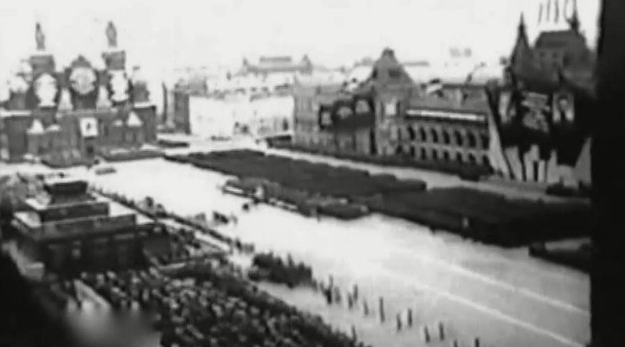 Празднование годовщины Октябрьской революции, Москва, 7 ноября 1937 года ©Кадр из видео канала History VA на youtube.com