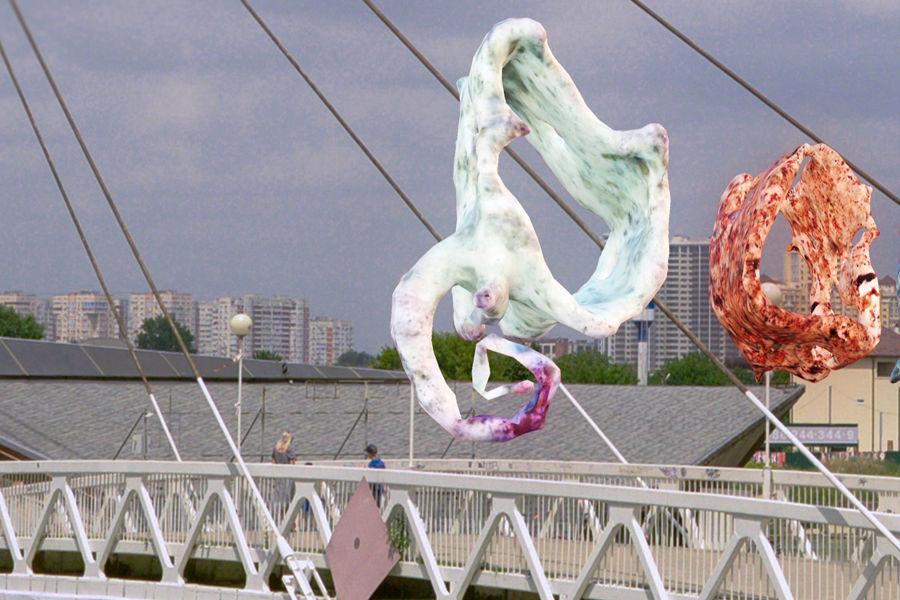 Фрагмент виртуальной скульптуры Кирилла Макарова «Доверие» ©Пресс-служба фестиваля Rosbank Future Cities