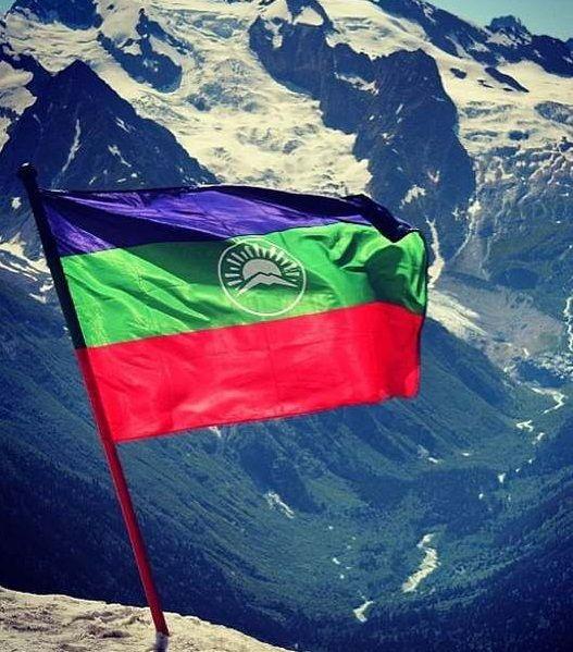 Кавказский флаг фото