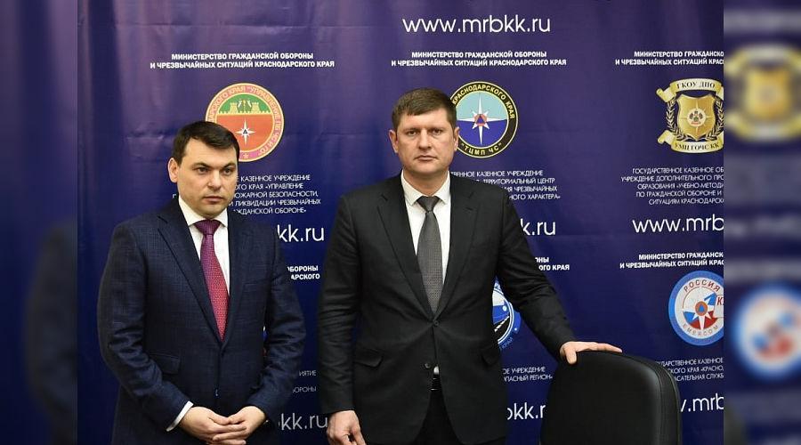 Сергей Штриков и Андрей Алексеенко ©Фото пресс-службы администрации Краснодарского края