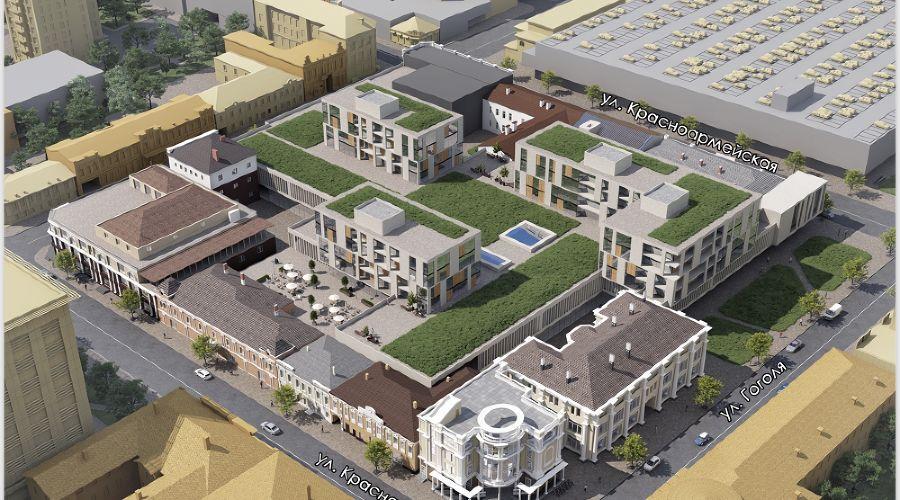 Проектное предложение реконструкции квартала (автор — Юрий Щербинин) ©Пресс-служба администрации Краснодара