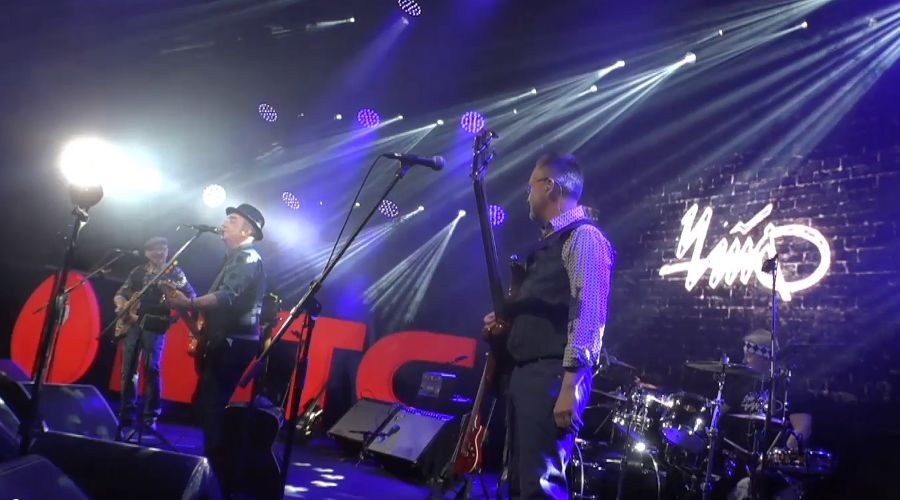 ©Кадр записи концерта «Чайф» 28 марта 2020 года с vr.mts.ru