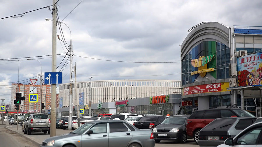 Вид на стадион «Краснодар», 2016 год ©Кадр из видео канала Артемия Лебедева на Ютубе, youtube.com/temalebedev