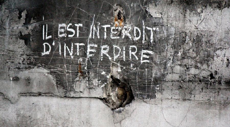 «Запрещено запрещать», один из лозунгов «Красного мая» 1968 года, Париж ©Фото пользователя empanada_paris с сайта Flickr.com