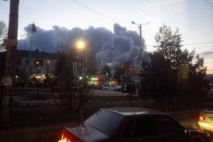 Пожар в Симферополе ©Соцсети