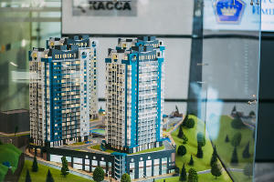 Макеты жилищных комплексов «ЮгСтройИмпериал» ©Фото пресс-службы Сбербанка