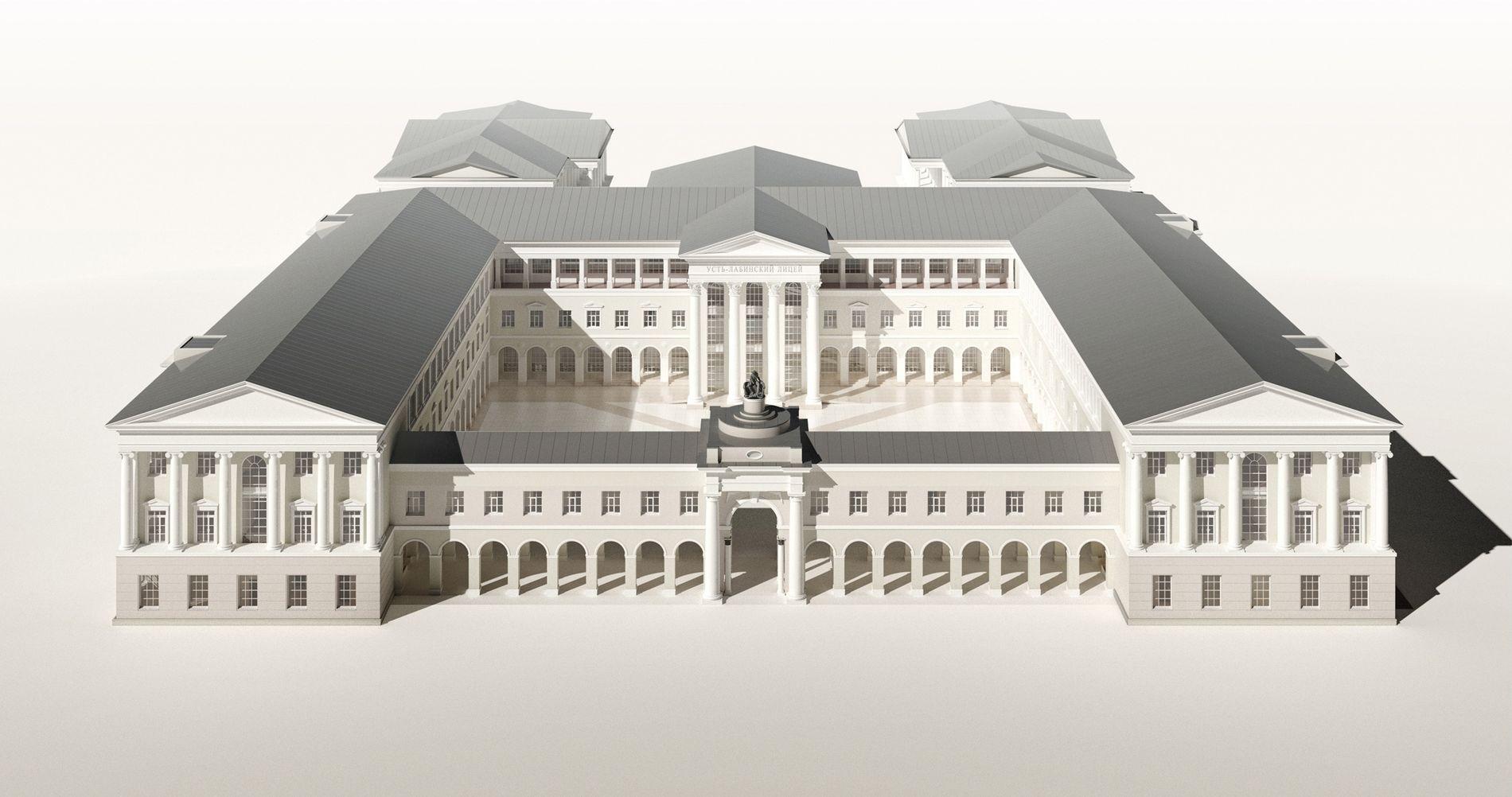 Лицейский комплекс состоит из трех зданий: учебного корпуса, кампуса и физкультурно-оздоровительного корпуса ©Фото пресс-службы фонда «Вольное дело»