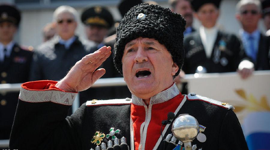 Парад казаков в Краснодаре. Николай Долуда ©Фото Елены Синеок, Юга.ру