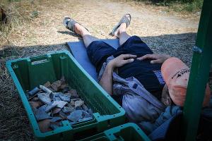 В лагере отряда водолазов. В перерывах между сменами археологи-подводники отдыхают прямо рядом с находками  ©Елена Синеок, ЮГА.ру