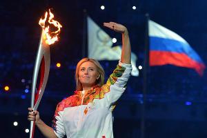Церемония открытия XXII зимних Олимпийских игр в Сочи. Мария Шарапова ©РИА Новости