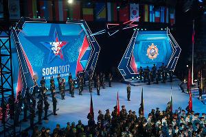 Церемония открытия III Всемирных зимних военных Игр в Сочи ©Фото Никиты Быкова, Юга.ру
