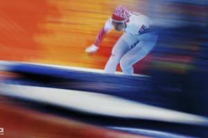 Ольга Граф завоевала бронзу в конькобежном спорте на дистанции 3000 м ©РИА Новости