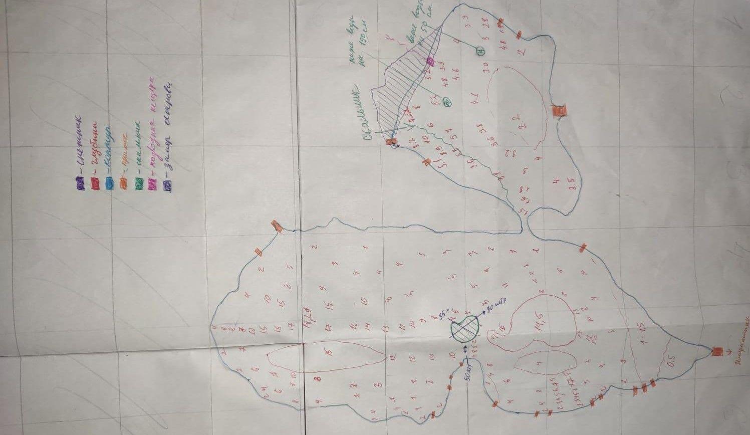 Бумажная карта, отрисованная вручную — необходимый этап 3D-моделирования ©Фото из архива экспедиции, предоставил Юрий Кашин