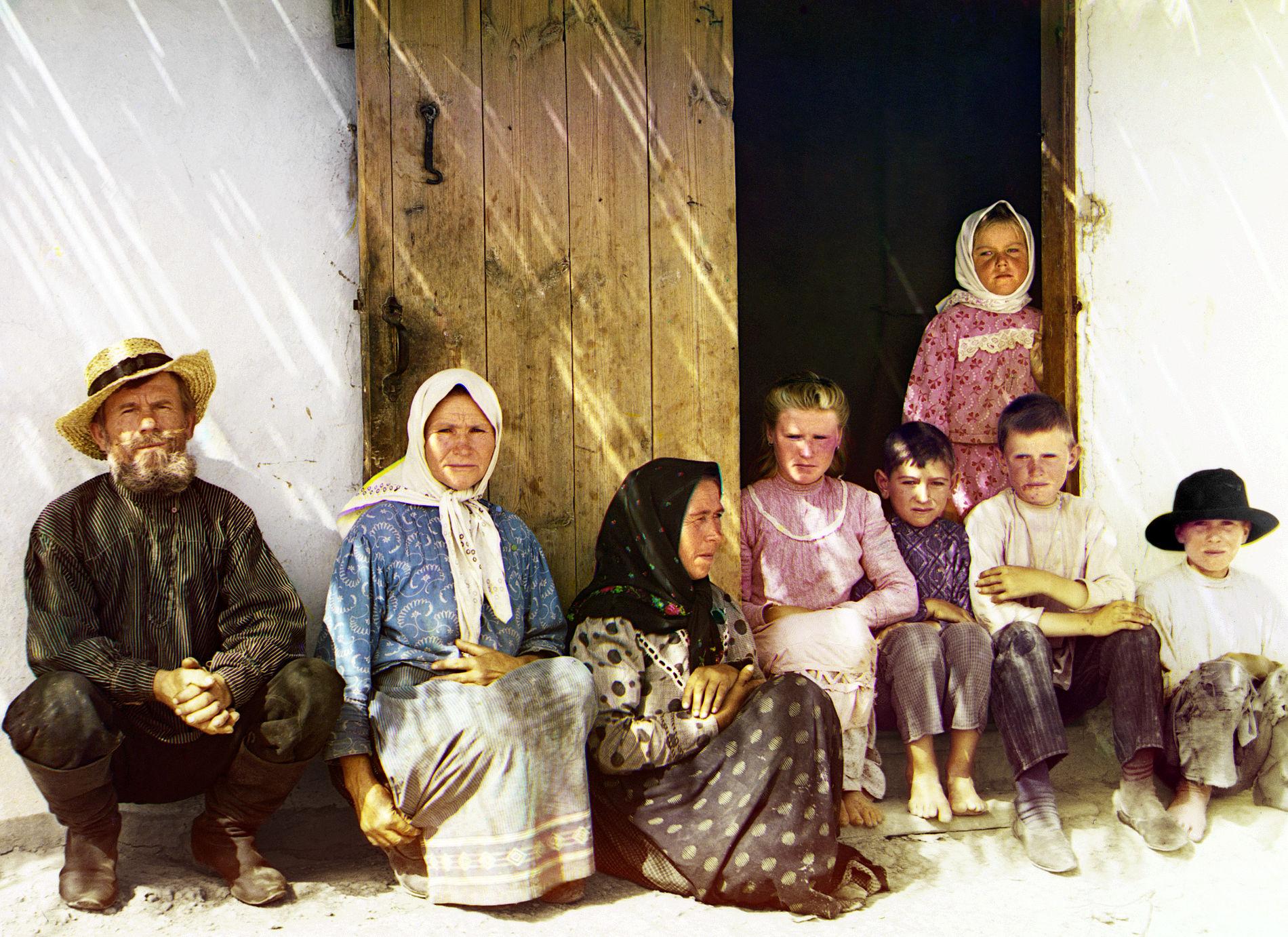 Русские поселенцы (возможно, молокане) в Муганской степи, Азербайджан. Фотография С. М. Прокудина-Горского, 1905-1910 гг. ©Фото с сайта commons.wikimedia.org