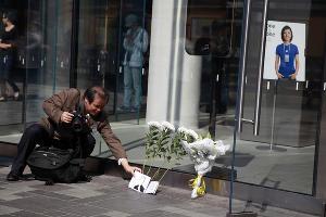 Акция памяти Стива Джобса (Пекин) ©СМИ