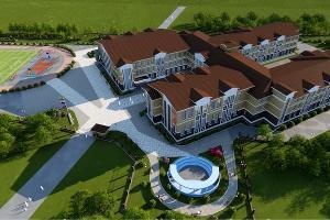 Визуализация проекта строительства школы в Новознаменском районе ©Фото пресс-службы администрации Краснодара