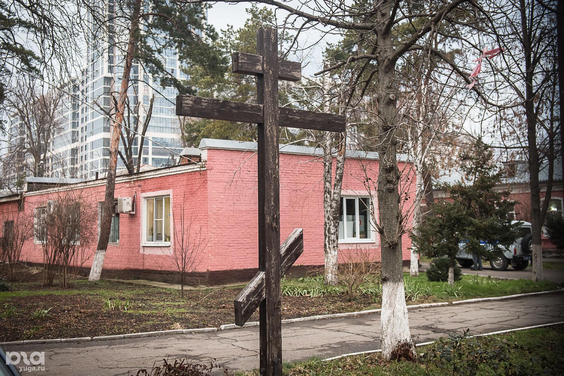 Территория первой городской больницы ©Фото Елены Синеок, Юга.ру