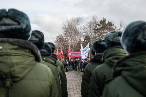 В Краснодаре прошел митинг в память погибших в вооруженном конфликте в Чеченской Республике ©Фото Елены Синеок, Юга.ру