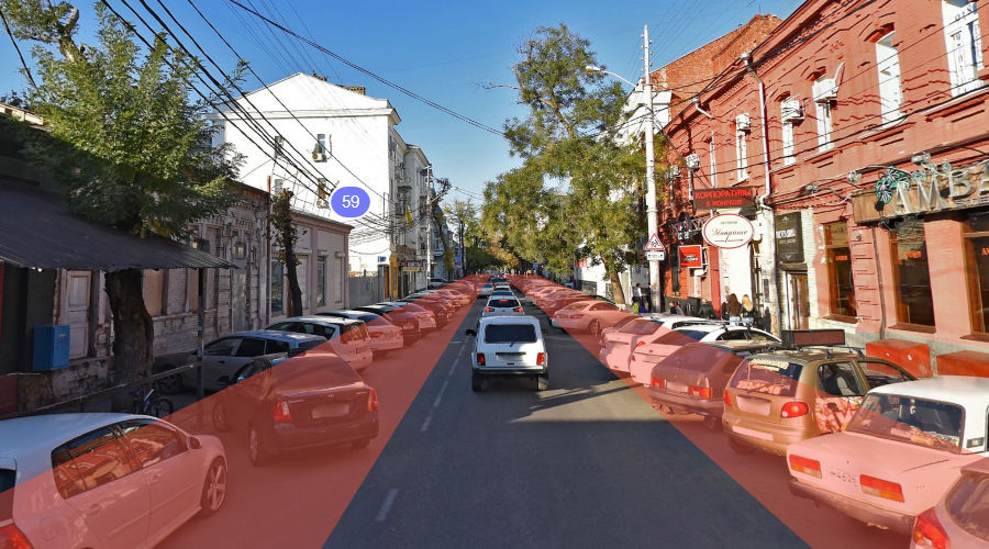 Примерная зона реконструкции на улице Красноармейской ©Коллаж Дмитрия Пославского, Юга.ру