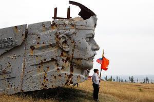 На Саур-Могиле отпраздновали День освобождения Донбасса ©Влад Александров, ЮГА.ру