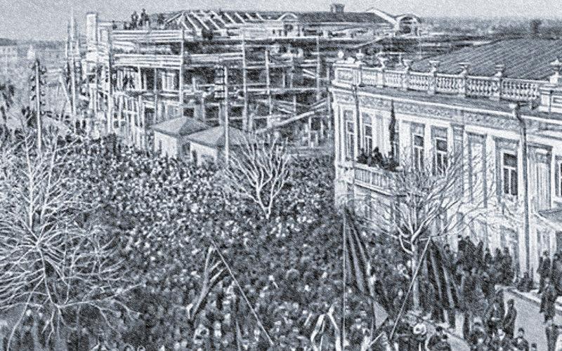 Стачка в Новороссийске, декабрь 1905 года ©Фото с сайта topwar.ru