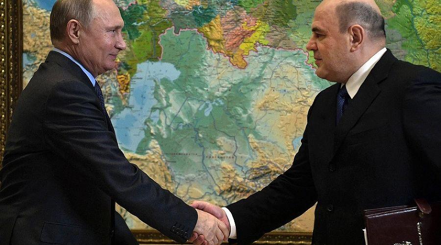 Владимир Путин и Михаил Мишустин ©Фото пресс-службы Кремля